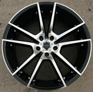 "20 x 10 - Glossy Black w/ Machined Face Automotive Rims 20"" Wheels Set of 4"