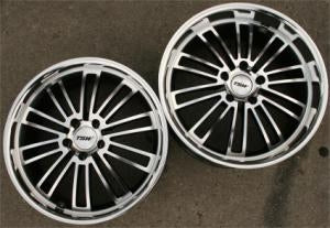 "19 x 8.0 / 19 x 9.5 Inch Gunmetal w/ Machined Face & Lip Automotive Rims 19"" Wheels - Set of 4"