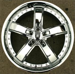 20 x 8.5 Inch Triple Plated Chrome Automotive Rims - Wheels Set of Four
