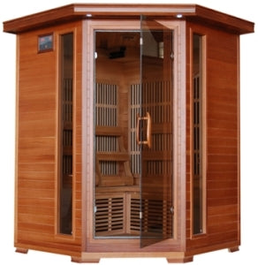 3-4 Person Hudson Bay Infrared Sauna with Carbon Heaters - Corner Unit
