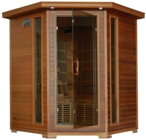 4-5 Person Whistler Infrared Sauna with Carbon Heaters - Corner Unit