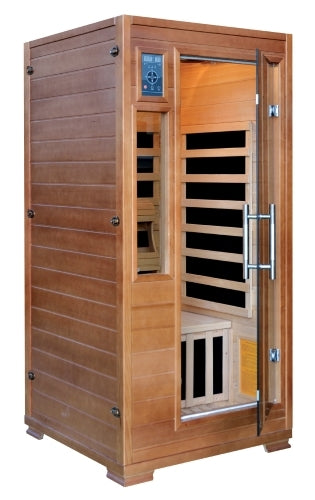 1-2 Person Hemlock InfraWave Majestic Sauna w/ 5 Carbon Infrared Heaters