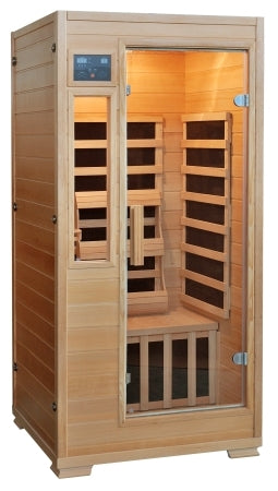 1 Person Infrared Sauna w/ 5 Carbon Heaters - Genesis Series