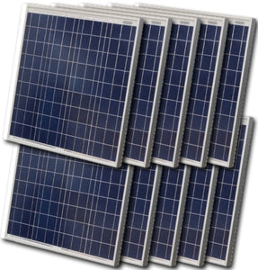 High Quality 60 Watt Solar Panel - 10 Panels, 600 Total Watts