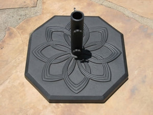 "High Quality 19"" Powder Coated 33 Lbs Wrought Iron Umbrella Base"