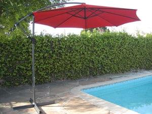 High Quality Red 10' Outdoor Garden Aluminum Frame Cantilever Umbrella