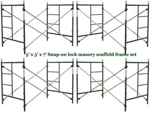 Brand New Set of Four Snap-On 5' X 5' X 7' Scaffolding Frames