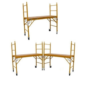 "Brand New Heavy Duty Set of Three 6'H x29"" Scaffolding Rolling Towers w/ U Lock Brace System"
