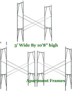 "Brand New Set of Three Snap-On 3' X 10'8"" X 10' Apartment Scaffolding Frames"