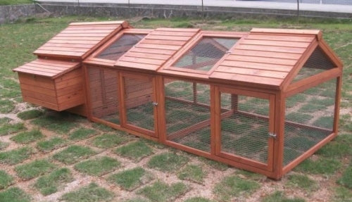 High Quality Chicken Coop House with Double Nesting Box & Double Run