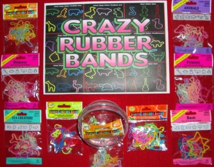 Crazy Band Packs in 4 Inch Capsules For Crane Machine - 76 Pieces