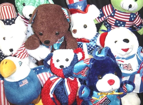 High Quality Patriotic Plush Toys For Crane Machine - 96 Pieces