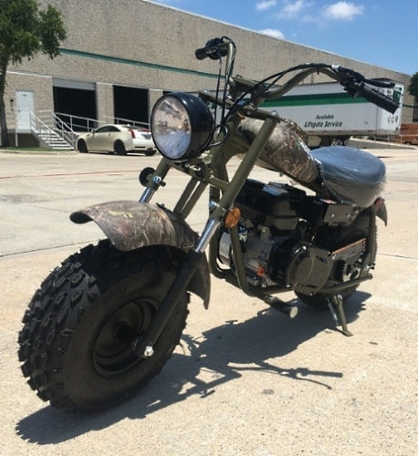 Offroad Old School Army Mini Bike Trail 200cc 6.5 HP With Monster Oversized Tires