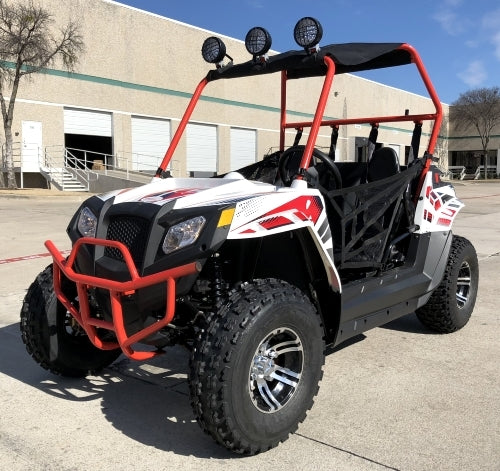 Beats 180XL Monster Golf Cart UTV 170cc Utility Vehicle W/LED Lights & Custom Rims/Tires