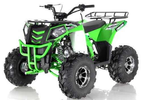 Apollo Series 125cc ATV Commander DLX Fully Automatic w/Reverse Cali Legal Utility Four Wheeler - COMMANDER DLX 125cc