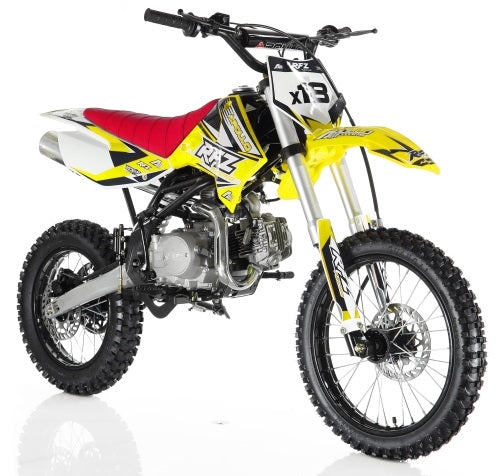 DB-X18 125cc Dirt Bike Apollo Series Manual Pit Dirt Bike w/Twin-Spare Tubular Frame