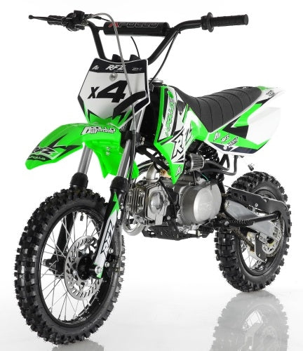 Apollo Dirt Bike DB-X4 110cc 4 Speed Semi Automatic Pit Dirt Bike