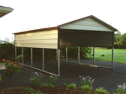 12' x 21' x 6' Boxed Eave Eco-Friendly Steel Carport - Installation Included