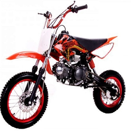 Coolster 125cc Dirt Bike Manual Clutch Mid Size Dirt Bike - QG-214