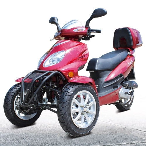 50cc Super Trike Scooter Gas Moped Fully Automatic with 12