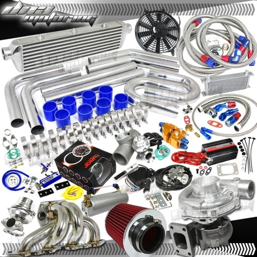 Amazing Complete High Performance Turbo / Charger Universal Kit (Gain 200+ H.P. - Complete Kit)
