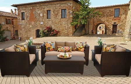 Beach 6 Piece Outdoor Wicker Patio Furniture Set - 2017 Model