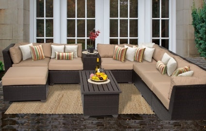 Beach 10 Piece Outdoor Wicker Patio Furniture Set - 2017 Model