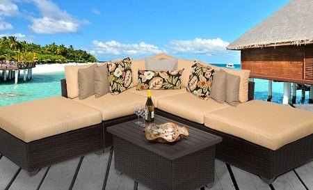 Cabana 6 Piece Outdoor Wicker Patio Furniture Set - 2017 Model