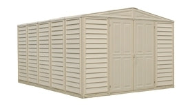 Duramax 10.5 x 13 WoodBridge Vinyl Shed + Foundation