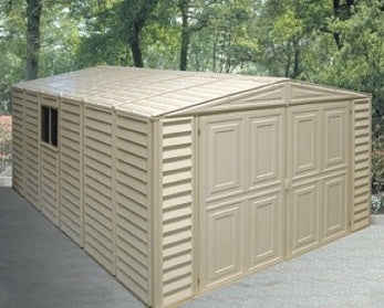 Duramax 10x16 Vinyl Storage Garage with Foundation & Window