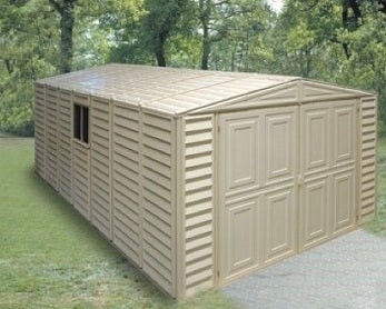 Duramax 10x18 Vinyl Storage Garage with Foundation & Window