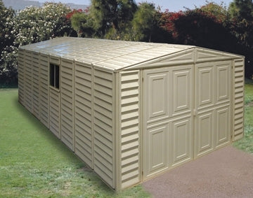 Duramax 10x21 Vinyl Storage Garage with Foundation & Window