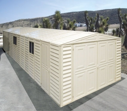 Duramax 10x26 Vinyl Storage Garage with Foundation & Window
