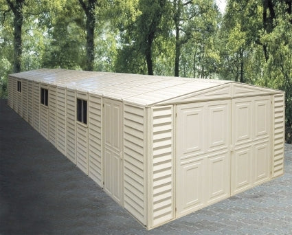 Duramax 10x31 Vinyl Storage Garage with Foundation & Window