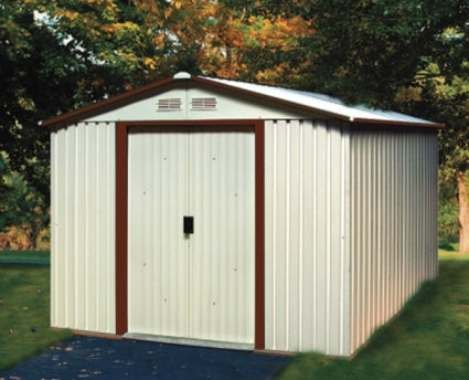 Duramax 10x12 Del Mar Colossus Metal Shed - Brown Trim