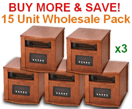 DYNAMIC 1500 INFRARED SPACE HEATER - 15 Unit Wholesale Lot - FREE SHIPPING!