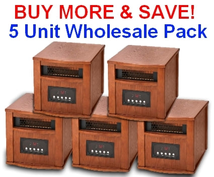 DYNAMIC 1500 INFRARED SPACE HEATER - 5 Unit Wholesale Lot - FREE SHIPPING!