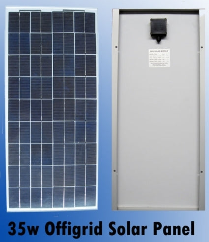 High Quality 35 Watt Off Grid Solar Panel 12V Battery Charger - 5 Pieces, 175 Total Watts
