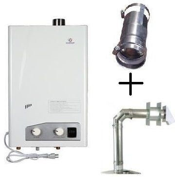 Brand New Eccotemp FVI12-NG Tankless Water Heater Bundle