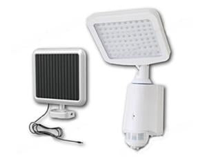 High Quality Plastic 80-LED Super Bright White Solar Powered PIR Sensor Wall & Security Light