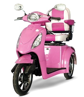 EWheels Pretty in Pink Electric 3 Wheel Mobility Scooter - EW-80