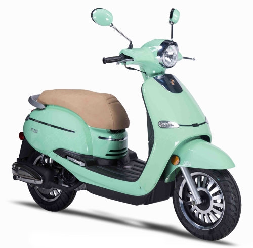 Znen 50cc 4 Stroke 3hp Gas Moped Scooter With Alarm & USB Adapter - F10-50cc-California-Pickup