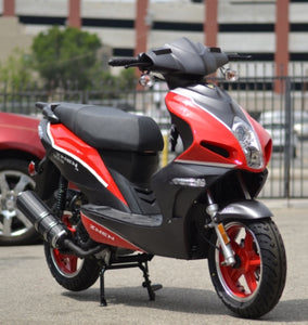 Znen 50cc 4 Stroke 3hp Gas Moped Scooter w/USB Adapter & Alarm - F35-50cc-California-Pickup