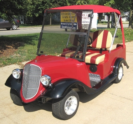 '34 Old Car Custom Club Car 48v Golf Cart With Convertible Top