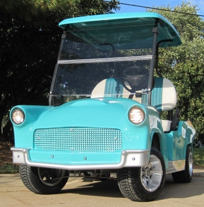 '56 Old Car Custom 48v Club Car Golf Cart