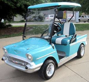 '57 Old Car Custom 48v Bel Air Club Car Golf Cart
