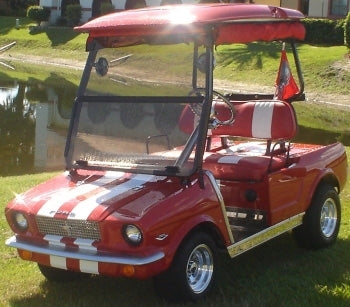 '65 Old Car Custom Club 48v Car Golf Cart