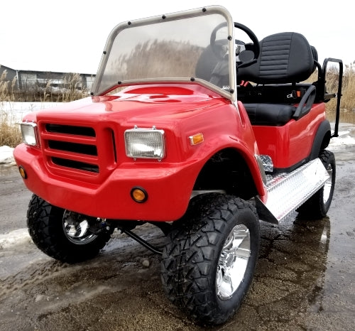F250 48v Electric Golf Cart Fully Customized 4 Seater With Utility Bed Fully Loaded