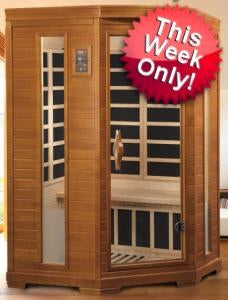 2-3 Person Infrared Sauna with 7 Carbon Heaters EXTREME BLOWOUT! WHILE SUPPLIES LAST!