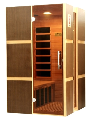 2 Person Low EMF Far Infrared Sauna w/ 8 Carbon Tech Heaters